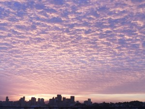 里约热内卢, 城市, 与, 云彩