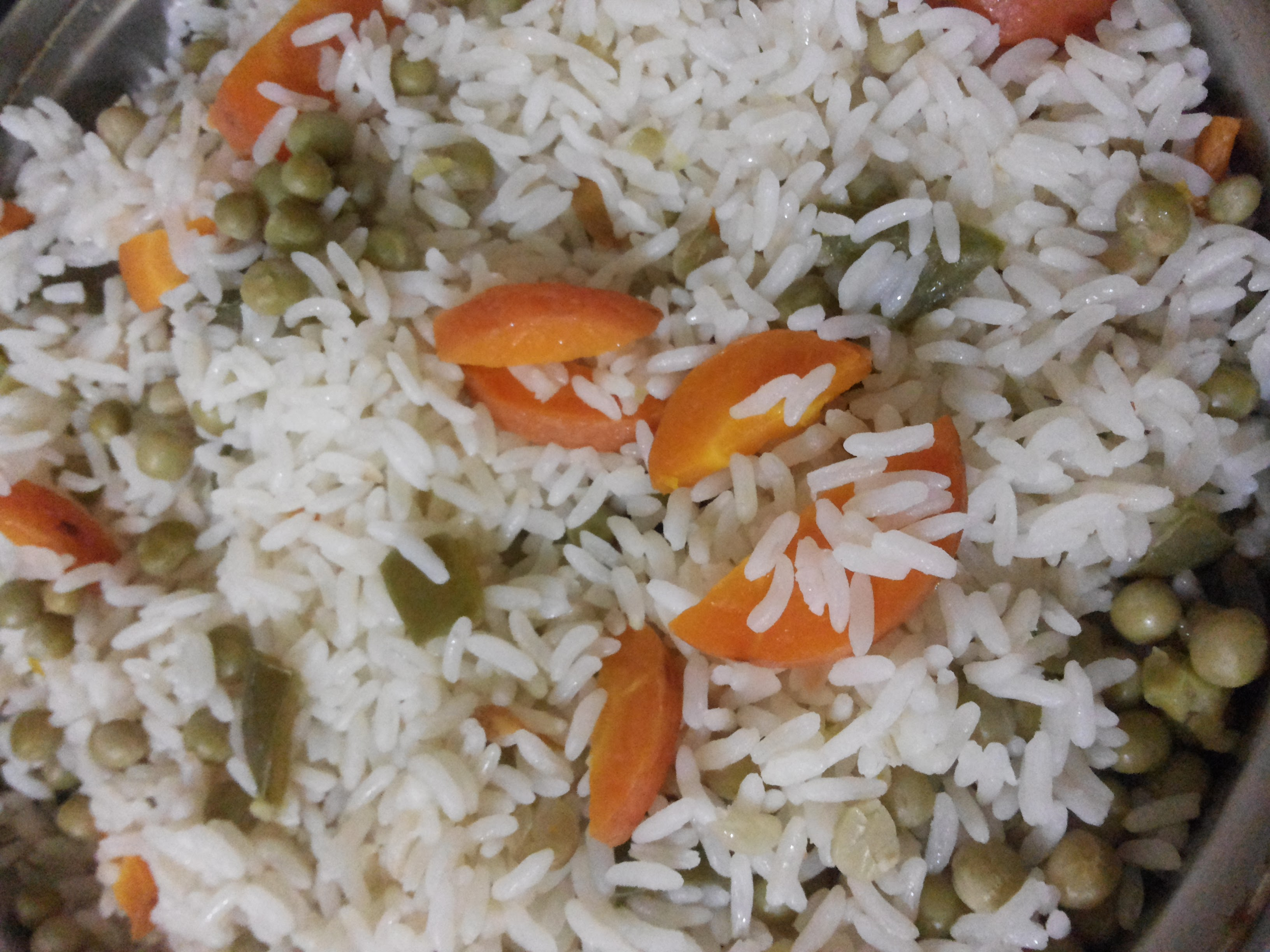 Free photograph; rice, vegetables, delicious, food