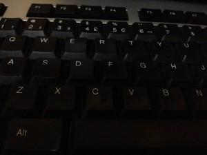 noir, ordinateur, clavier