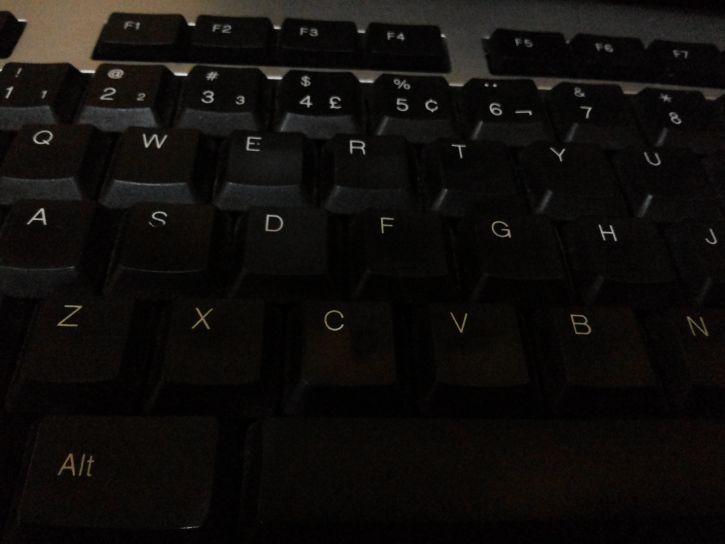 black, computer, keyboard