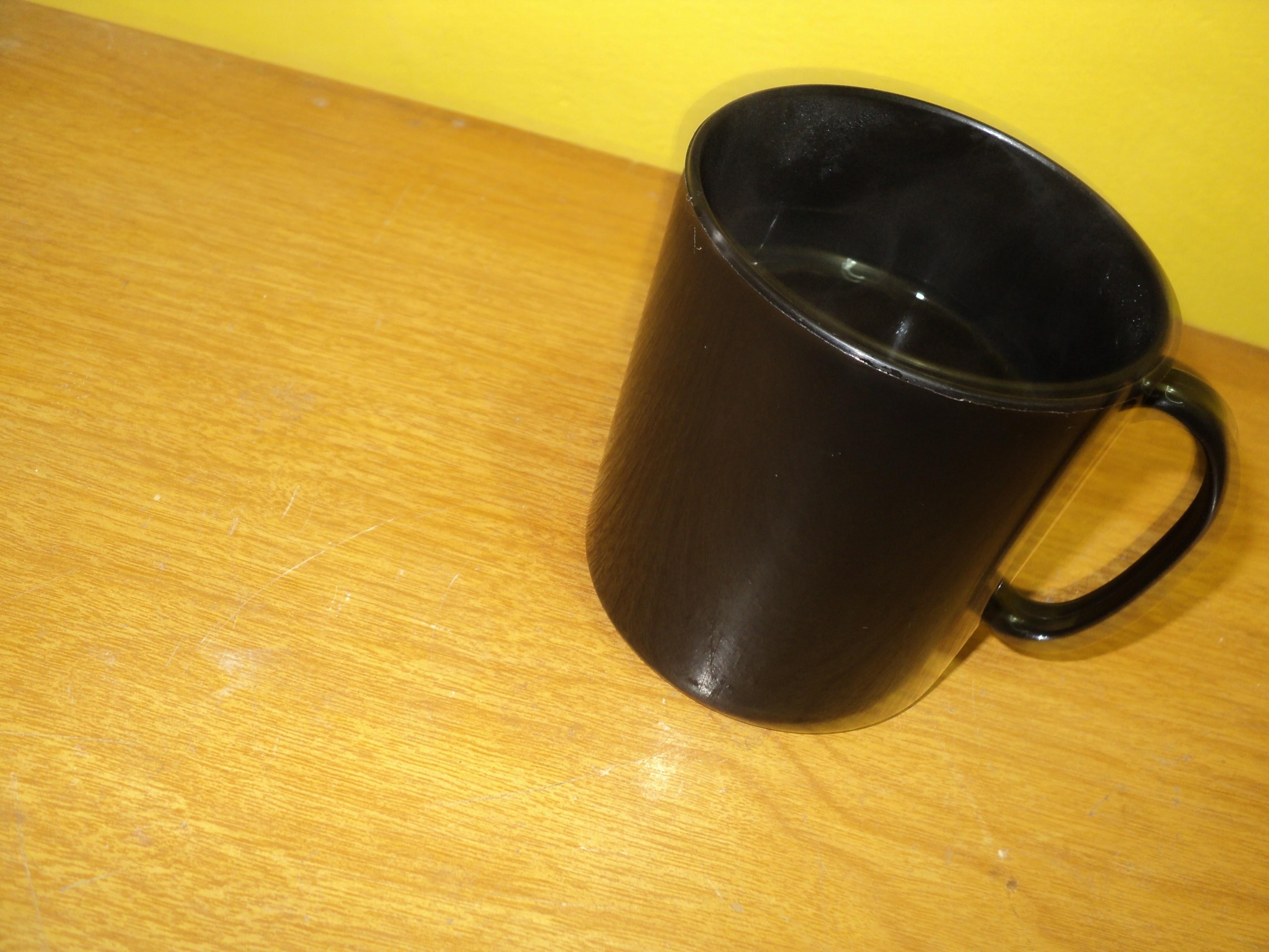 Free photograph; coffee, mug, black, ceramic