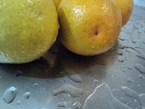 organiques, les oranges, humide, l'eau
