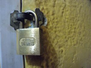 serratura, porta, metallo, blocco