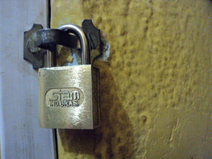 lock, door, metal, lock