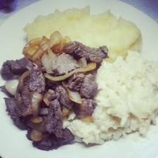 месо, пюре, картофи, ориз