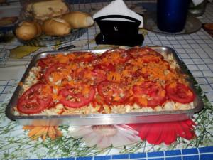 tomat, kue, dapur tabel