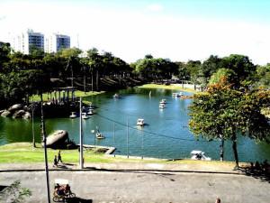 Quinta, Vista, Laguna, perkotaan, park, Danau, kota