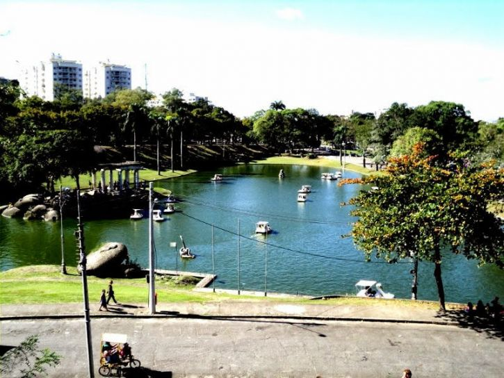 Quinta, Vista, lagune, urbane, park, lake, byen
