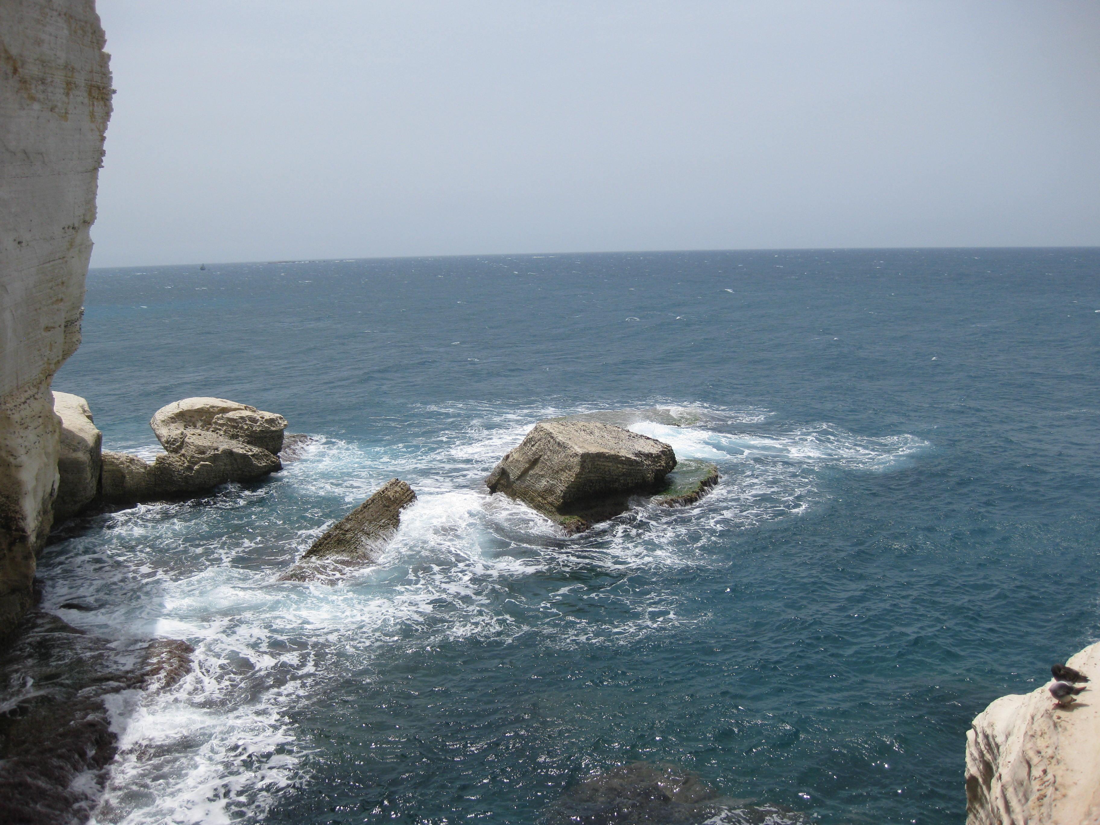 Free photograph; chalk, cliffs, coastline, Israel