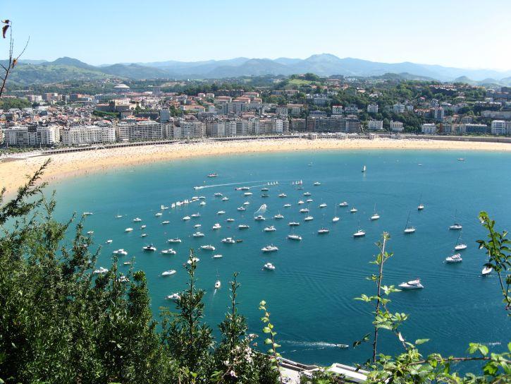Sebastian, beach, Spain, landscape