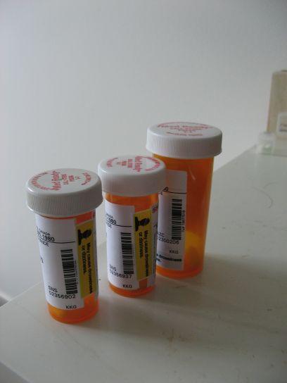 약물, 플라스틱, 컨테이너, 알 약