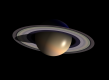 Saturn planet in solar system drawing space