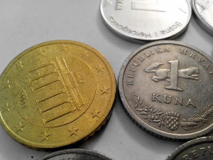 croatian, kuna, money, European, union, money, metal, coin