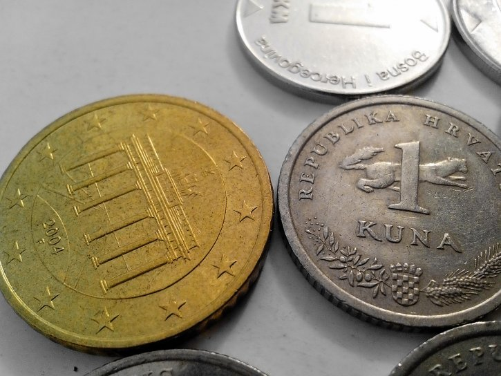 croatian, kuna, money, european, union, money, metal, coin
