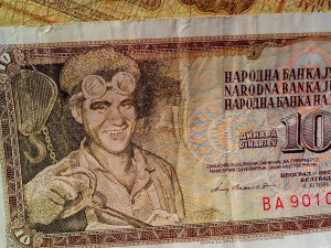 banknotes, money, currency, cash, former Yugoslavia