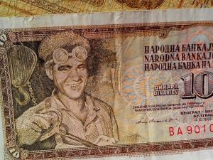 billets de banque, argent, monnaie, espèces, ex-Yougoslavie