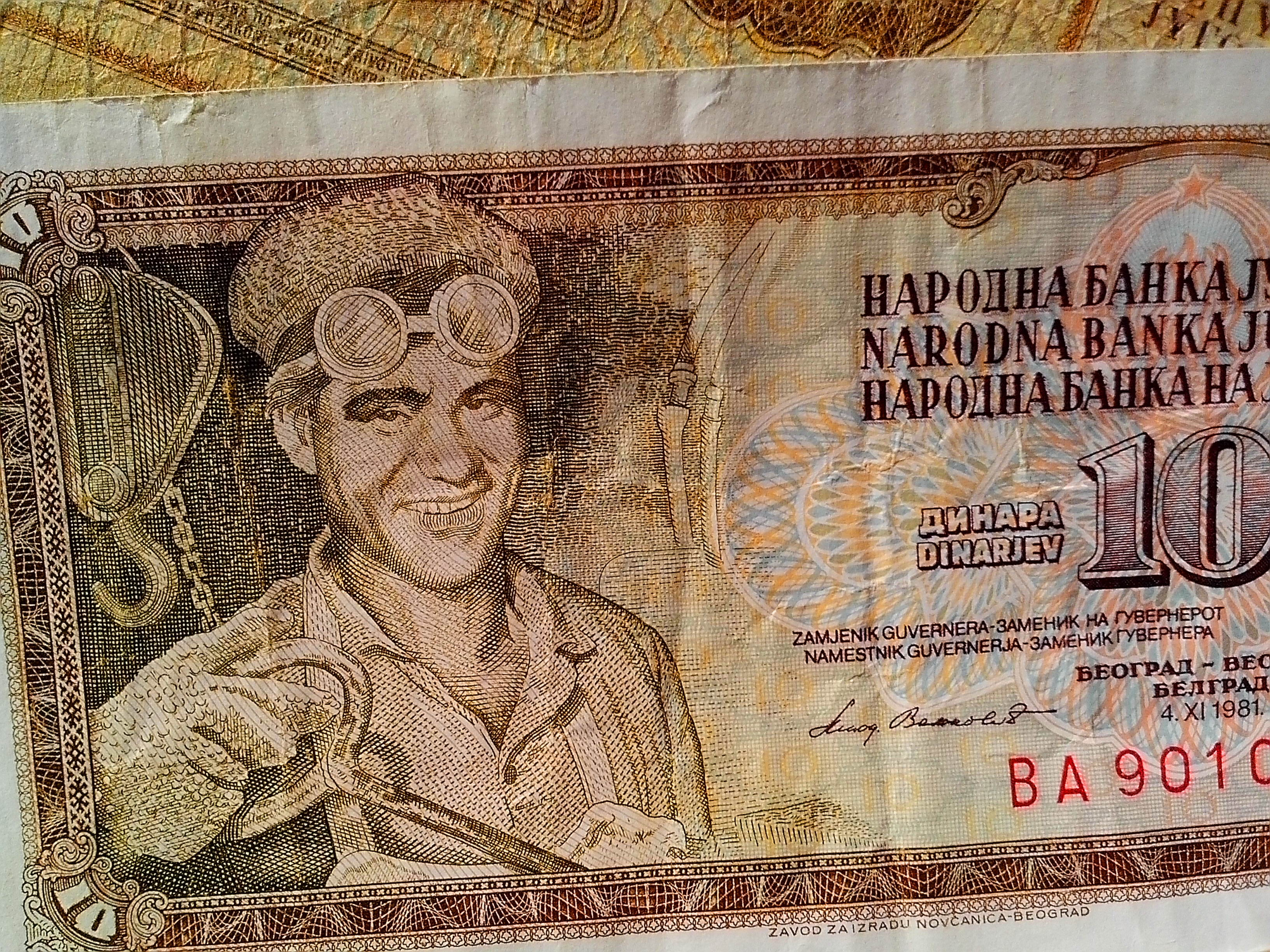 Free photograph; banknotes, money, currency, cash, former, Yugoslavia