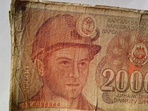 ex-Yougoslavie, facture, billets de banque, de l'argent