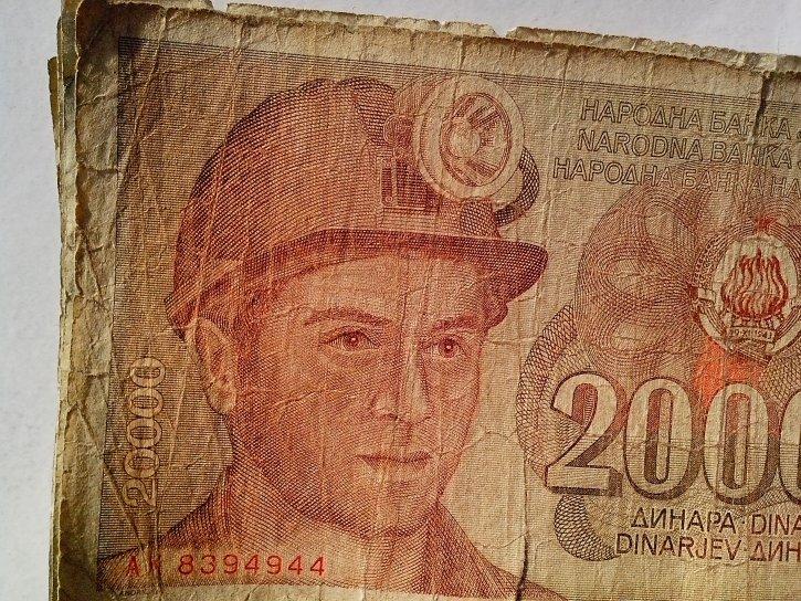 former, Yugoslavia, bill, banknotes, money