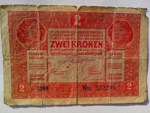 1917, money, Hungarian, banknotes