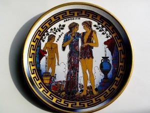 antique, grec, l'art, la plaque, la poterie, la faïence, l'art