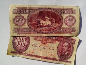 hungarian, money, banknotes, bank, forint, 1984