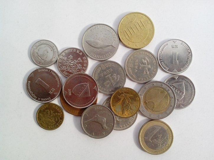 金属, 货币, 硬币, 欧洲, 联合, 克罗地亚, 波斯尼亚, 黑塞哥维那, 现金