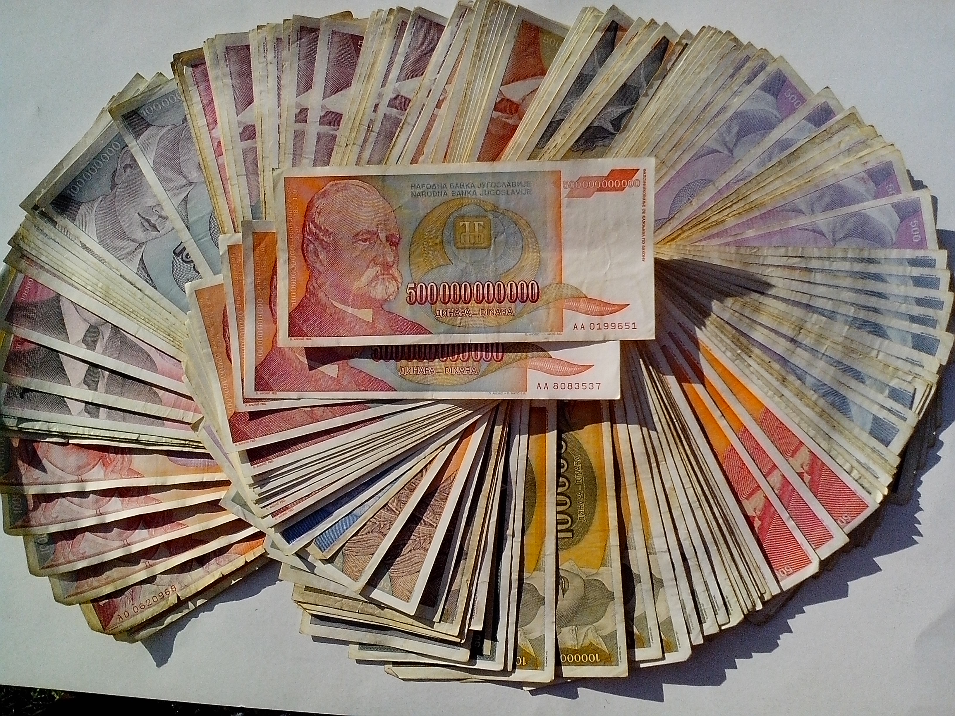 Free photograph; money, big, banknotes, great, inflation, 500000000000, bill