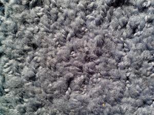 miskin, kualitas, wol, abu-abu, up-close, tekstur
