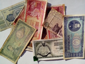 vintage, money, bills, banknotes, Europe, cash, currency