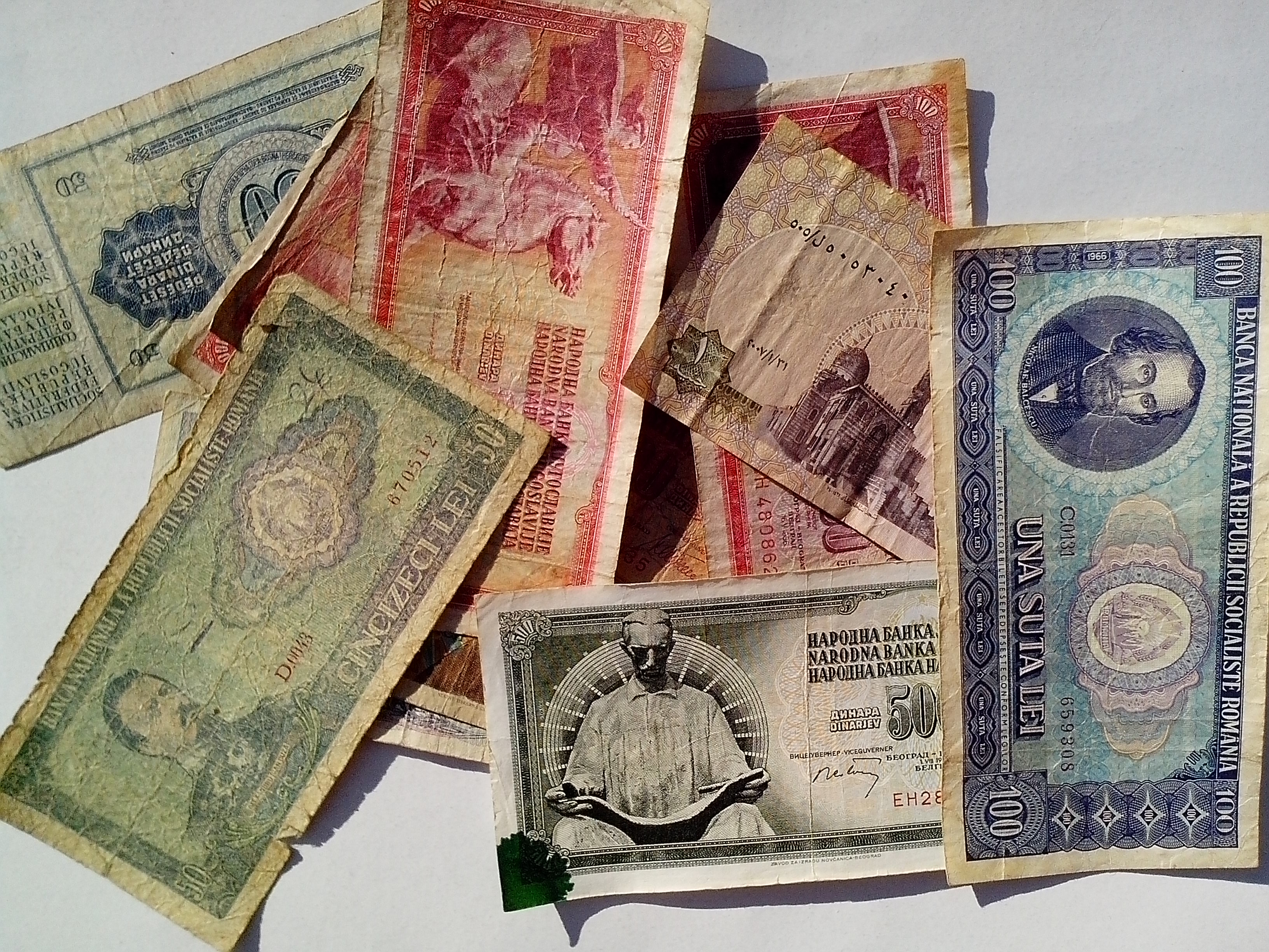 Free photograph; vintage, money, bills, banknotes, Europe, cash, currency