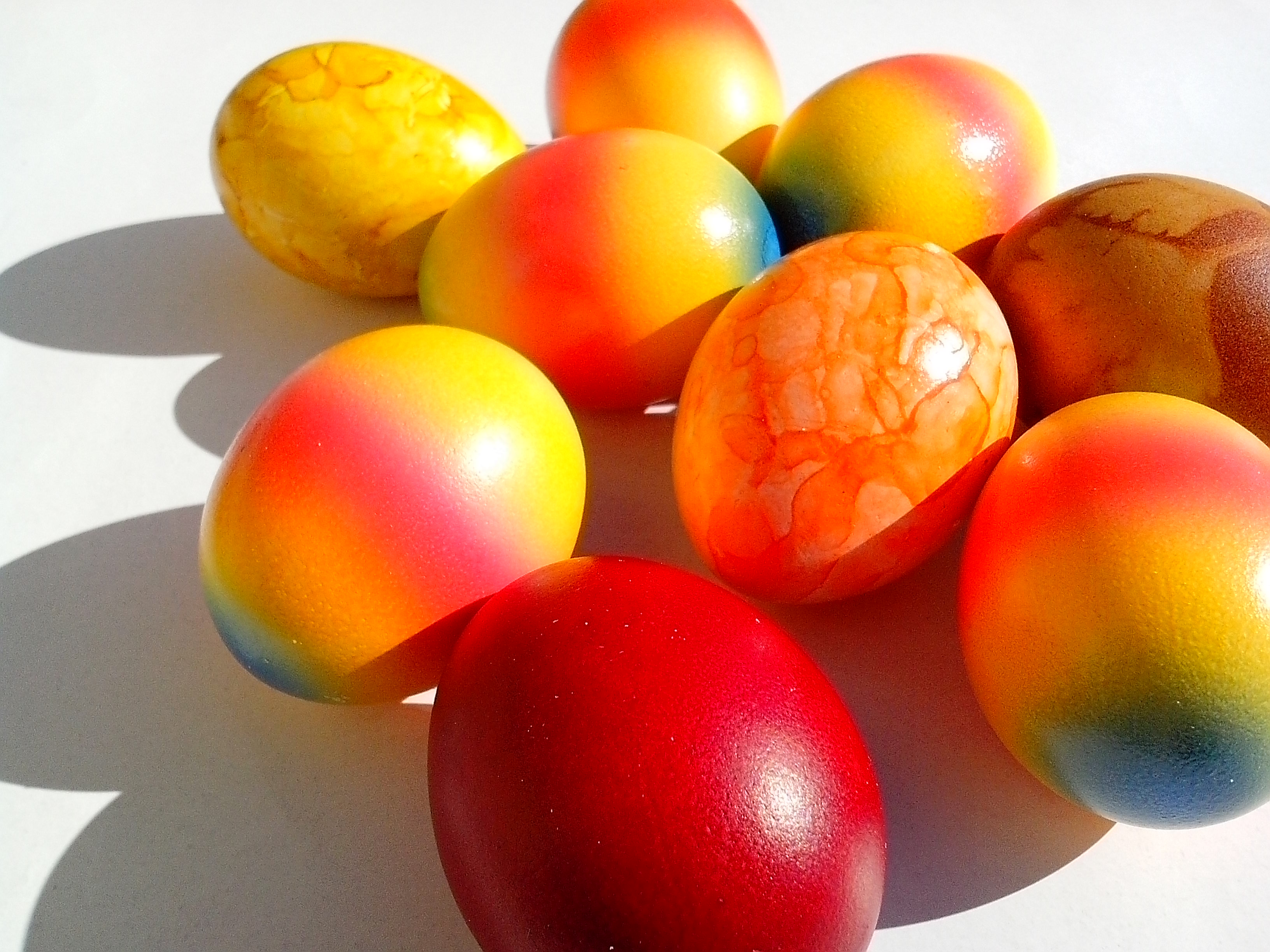 Free photograph; easter, Christianity, Jesus, Christ, eggs, colorful, rainbow