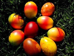 Easter eggs, Orthodox, Jesus, Christian, church, grass