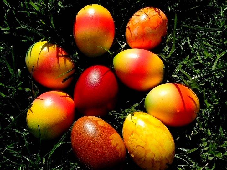 easter, eggs, Orthodox, Jesus, Christian, church, grass
