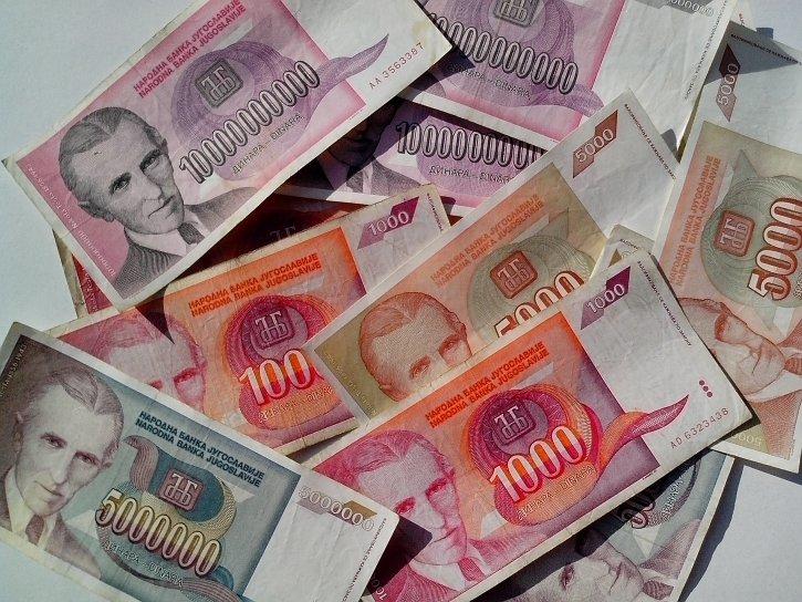 currency, bills, Nikola, Tesla, Serbia, Yugoslavia