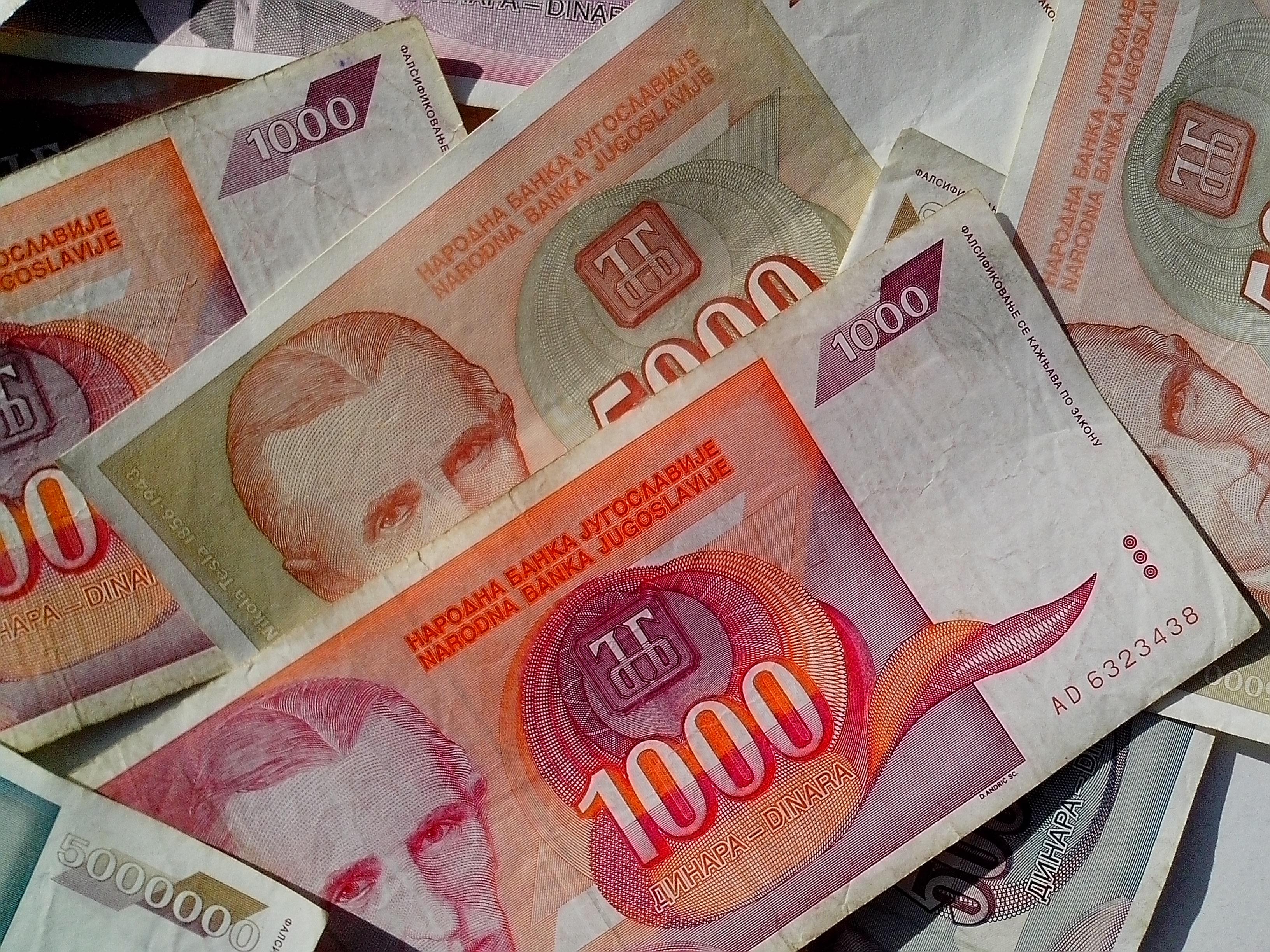 Free photograph; money, banknotes, Nikola, Tesla, cash