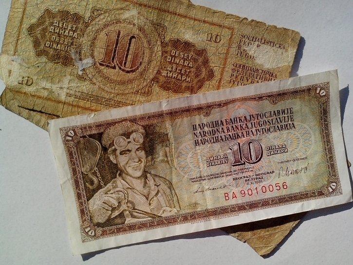 old, Yugoslavia, money, cash, banknotes, miner, mine, socialism