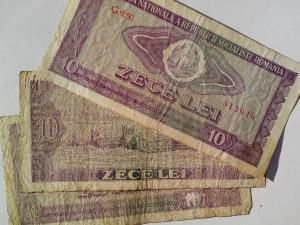 roumanie, billets de banque, argent, vieux, cru, papier