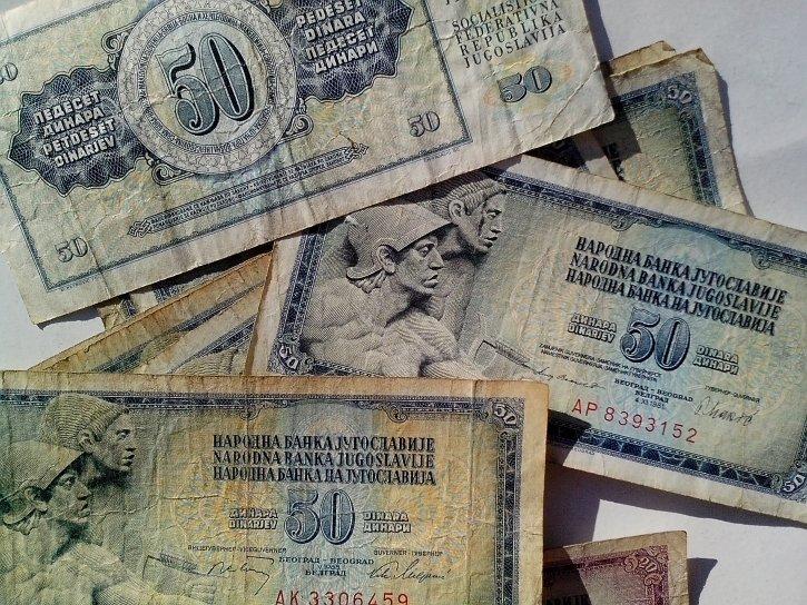nacionalne, banka, Jugoslavija, novčanice, novac, valuta
