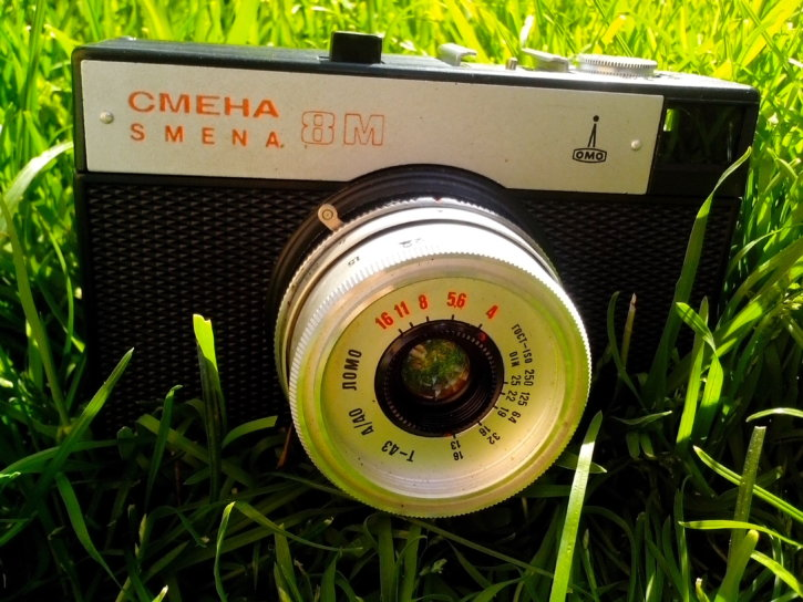old, camera, Russian, vintage, analog, device
