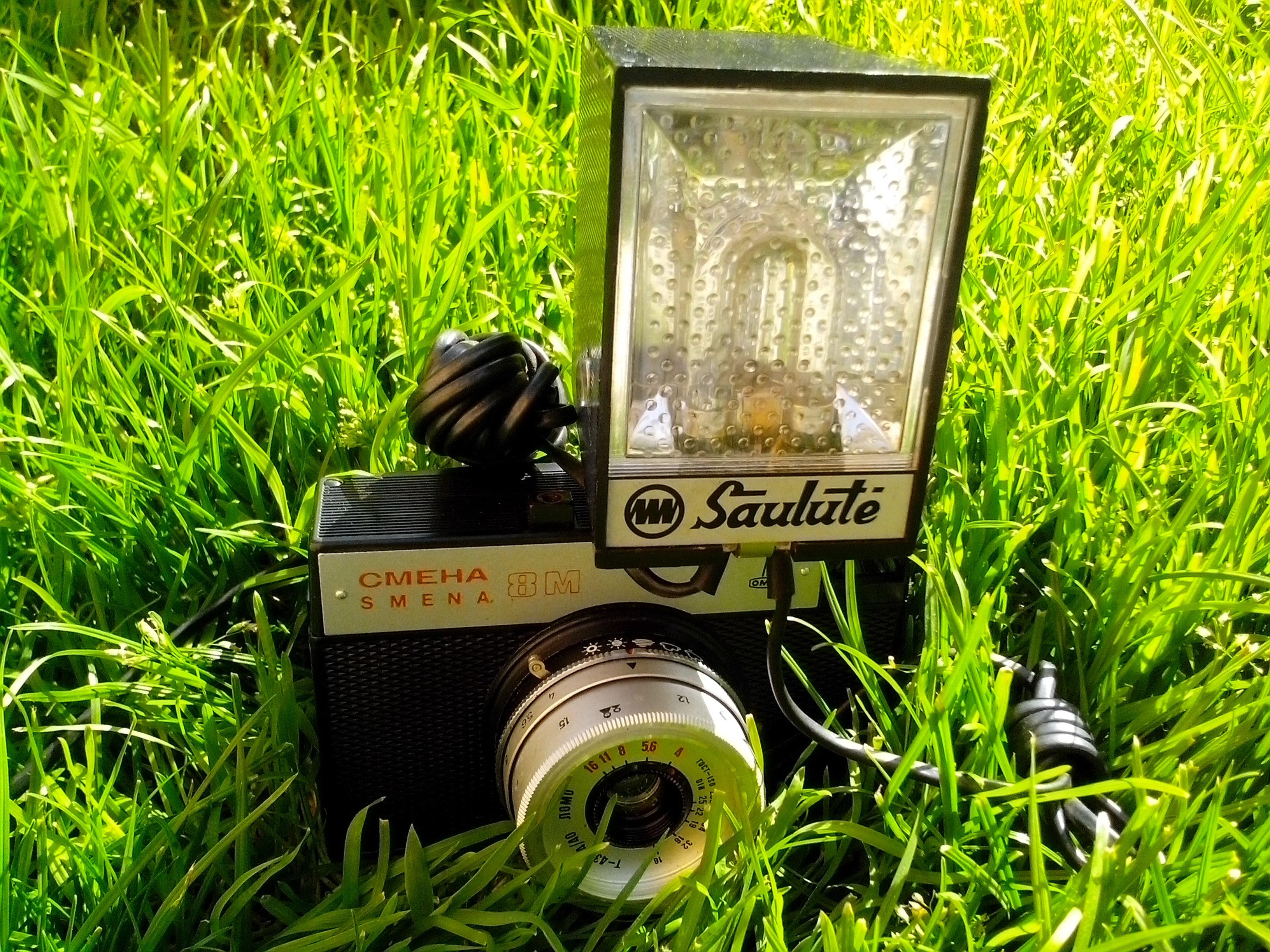 Free photograph; photo, flash, old, camera, Russian, lens, macro, photography, analog, device