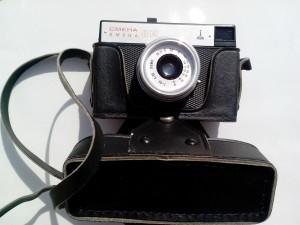ancien, soviétique, union, photo, appareil photo, vieux, analogique, lentille