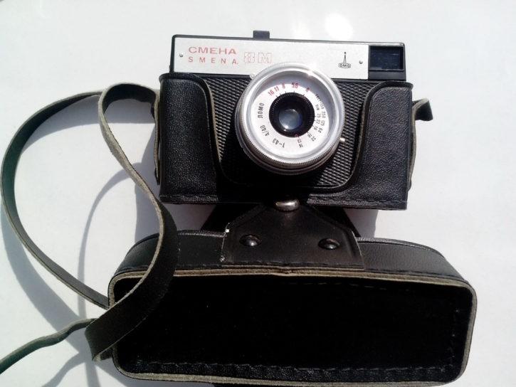 bivši, Sovjetski, Unije, foto, kamera, stari, analogni, objektiv