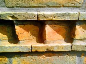 motif, argile, brique, mur