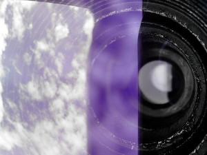 leća, zumiranje, dalekozor, teleskop, stakla, odraz, nebo