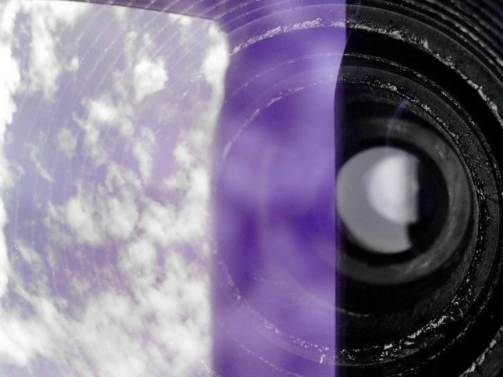 lens, zoom, binoculars, spyglass, glass, reflection, sky