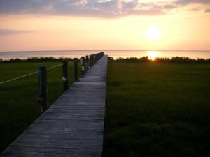 promenade, coucher de soleil