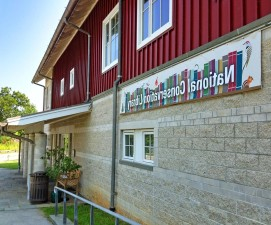national, conservation, library, building, entrance, library, banner