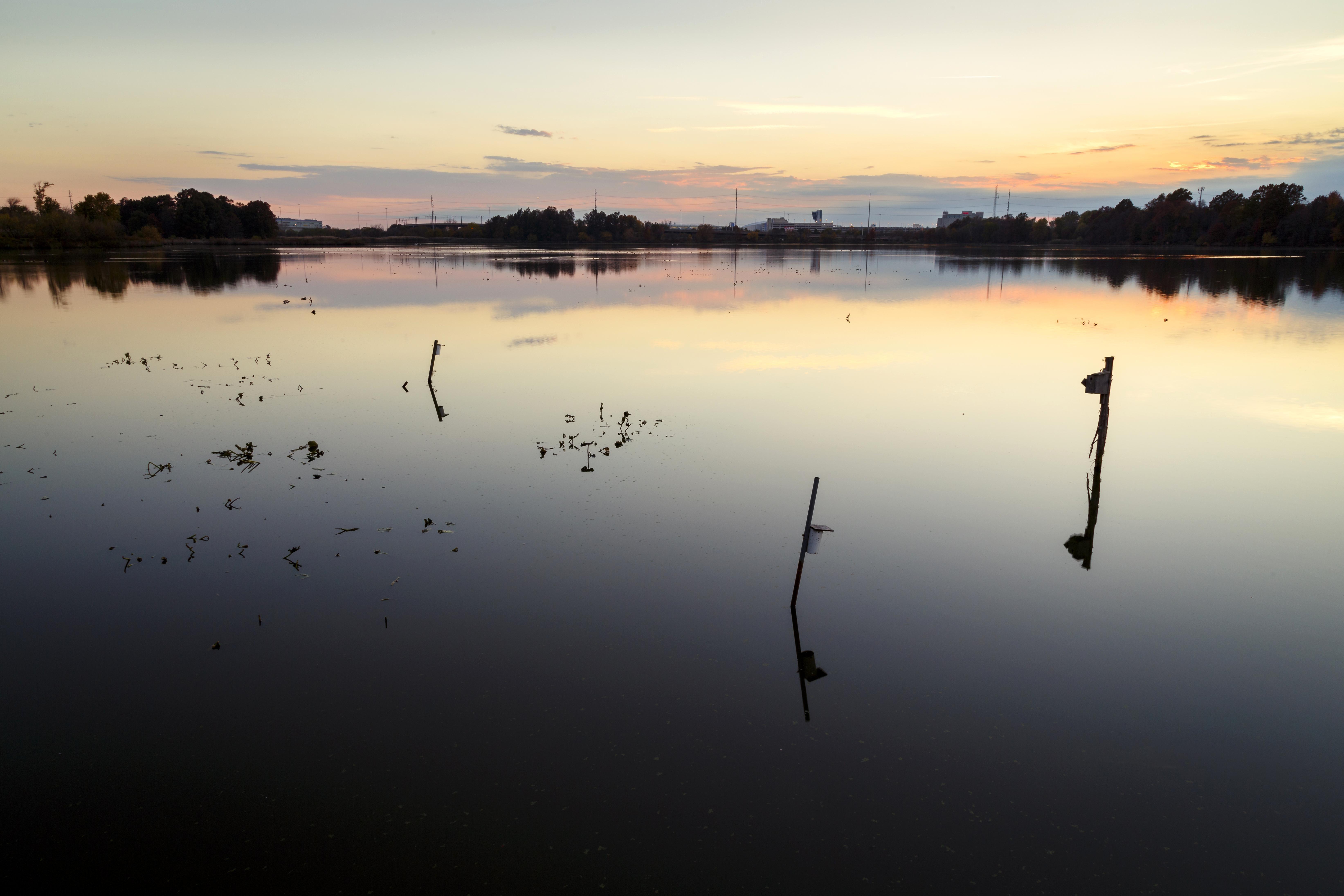 Free photograph; sunrise, John, Heinz, national, wildlife, refuge