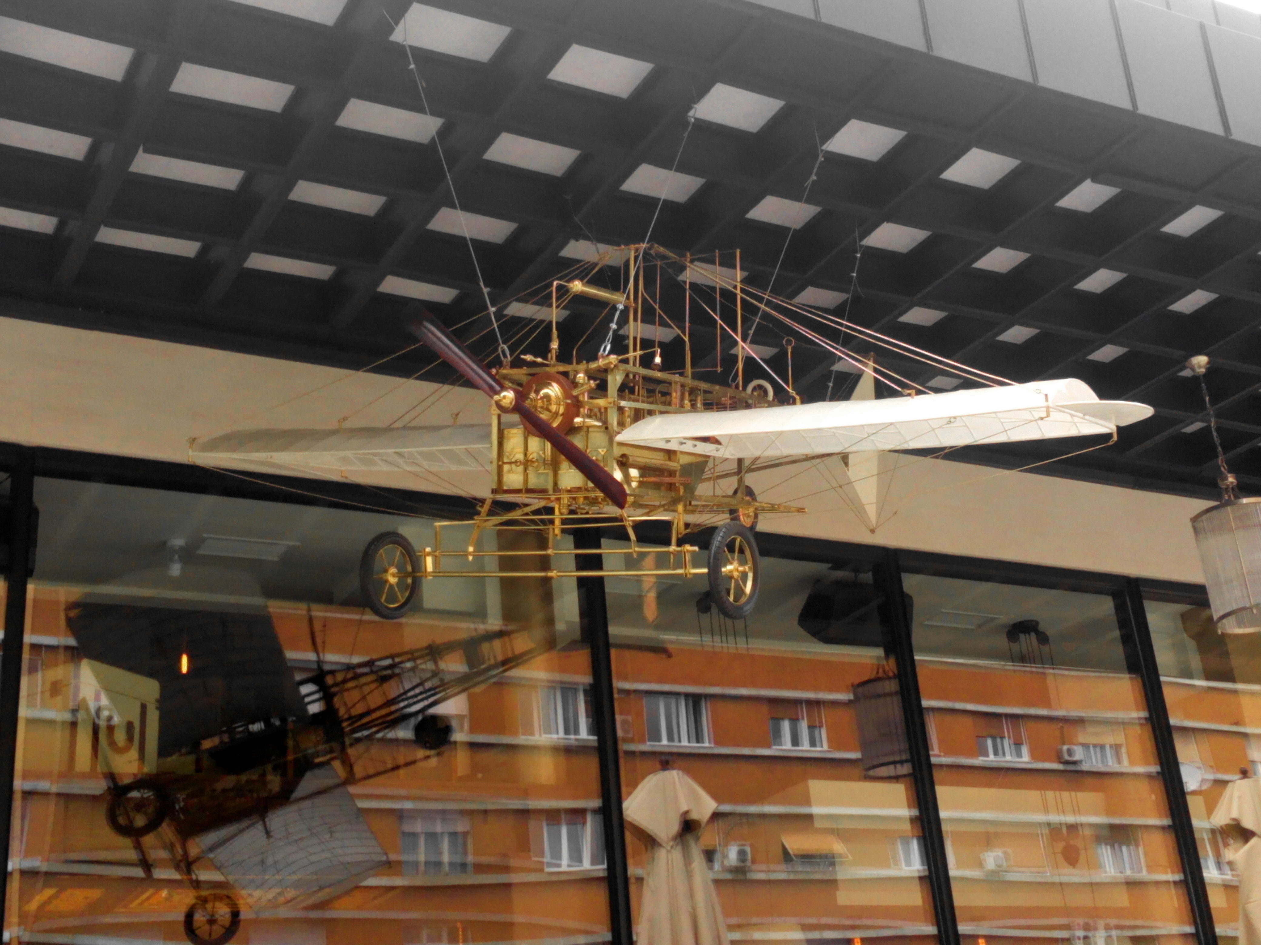 Free photograph; airplane, biplane, model, attraction